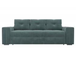 Прямой диван из велюра Леос