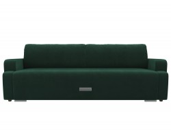 Прямой диван из велюра Ника